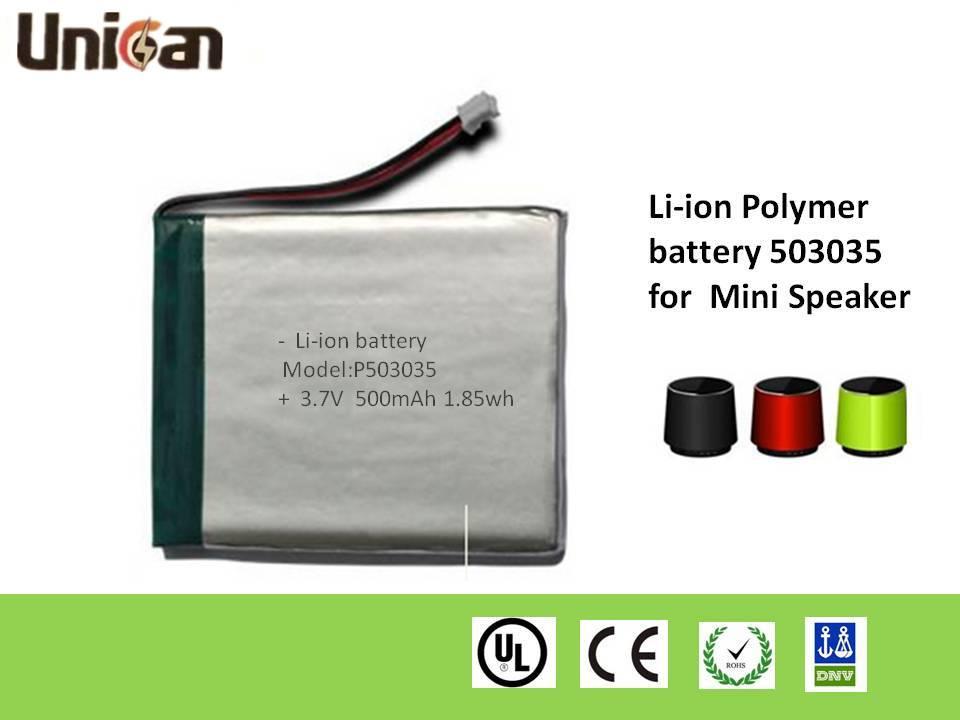 40-8500mAh 3.7V Li-ion Polymer Batteries