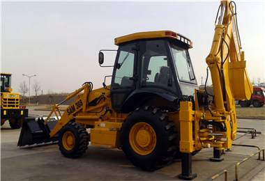 China new backhoe loader 4WD with H-leg for sale