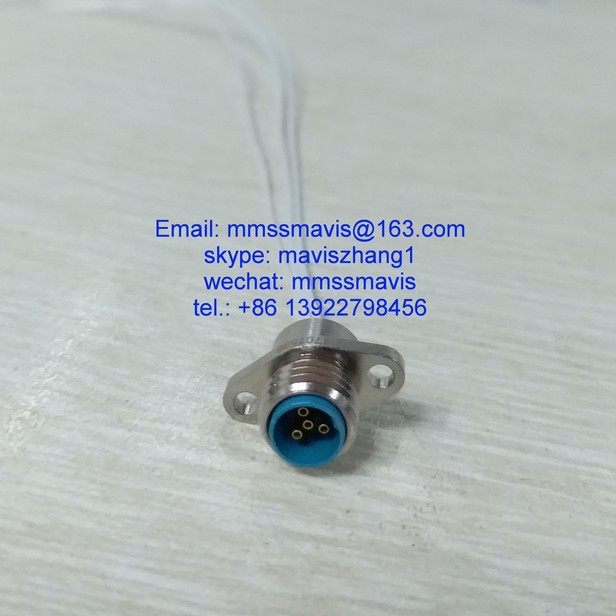 military grade Y34 series micro circular connector 4 pin electrical socket
