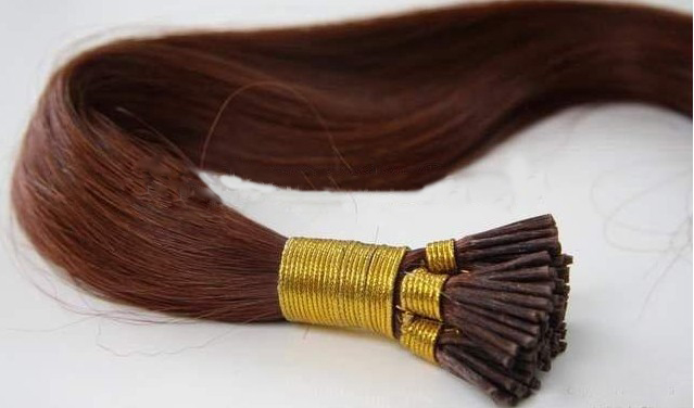 High quality silky remy cuticle i tip hair extension keratin hair