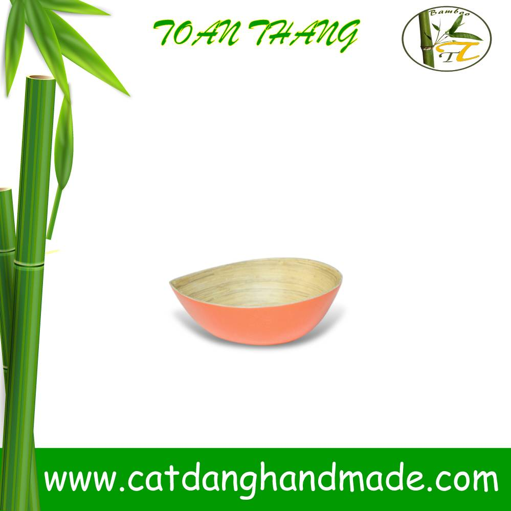Leaf bamboo bowl, wonderful design bamboo bowl for decorating ware, kitchenware