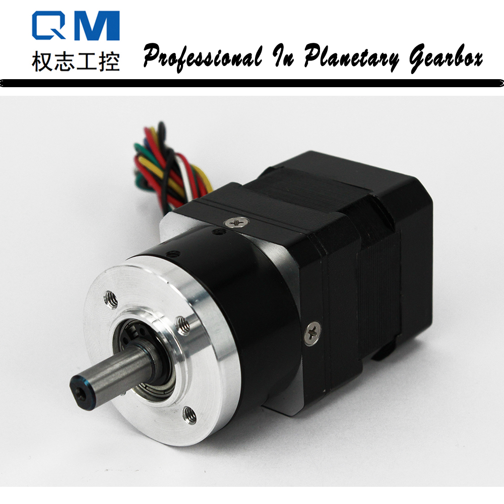 Geared Brushless DC Motor 30W 24V Nema 17 Planetary Gearbox