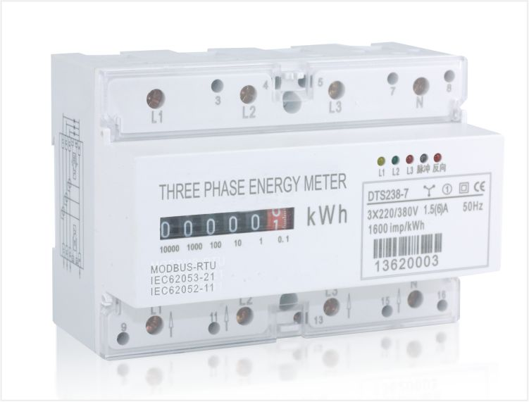 Three phase din rail energy meter, Type DT(S)S238-7