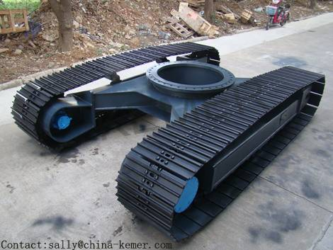15T steel track undercarriage with slewing bearing for excavator