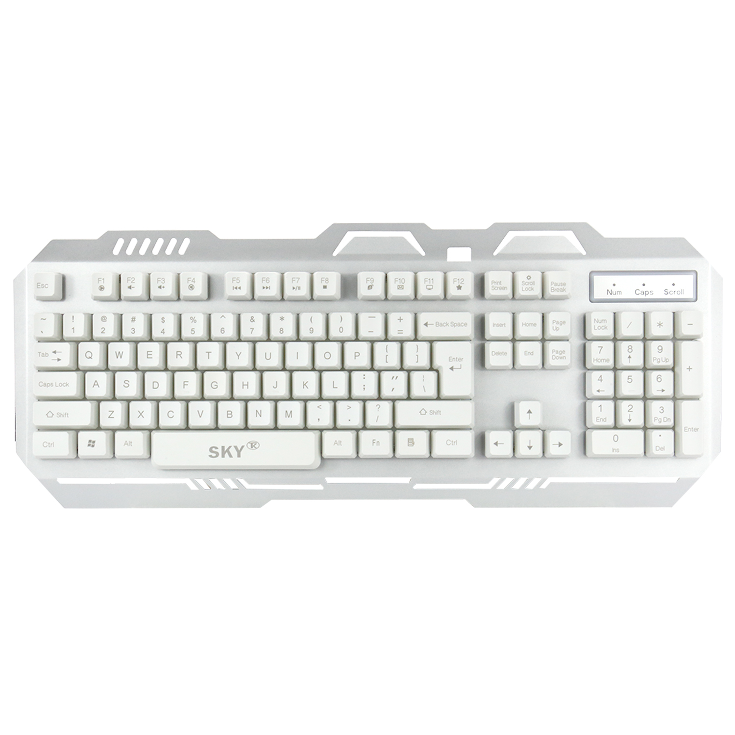 Computer New Wired Gaming Keyboard with Rainbow Backlight for Laptop and Desktop