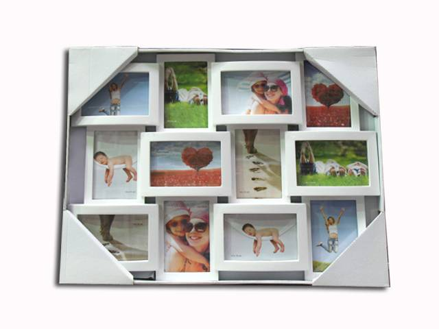 plastic photo frame/picture frame 12pcs