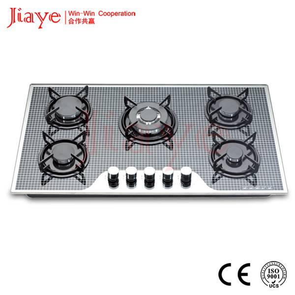JIAYE hot 5 burner gas hob with enamel support JY-G5015