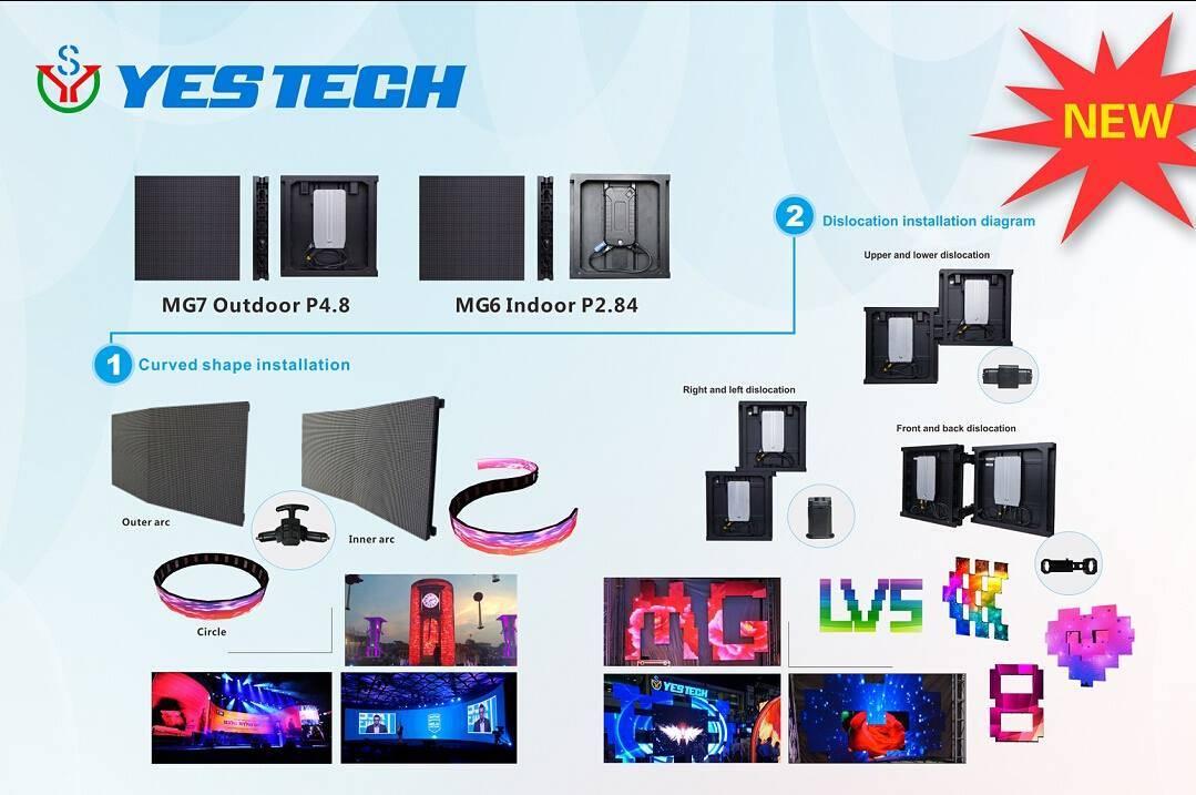 HD rental P3 indoor curve led display screen