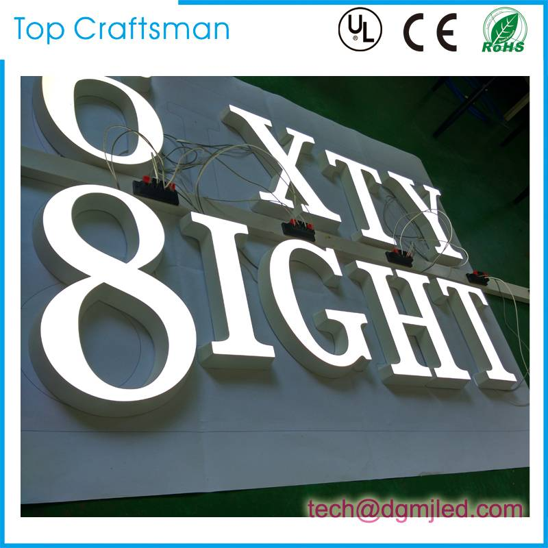 Advertising Illuminated Brightness Customized engraving acrylic letter sign