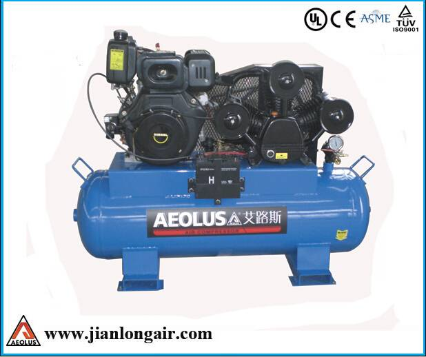 diesel driven piston air compressor JL 3090 with CE