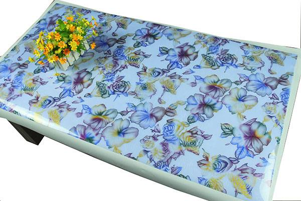 Classic hot sale in European home stuff cover plastic EVA Fashion Silk Tablecloth