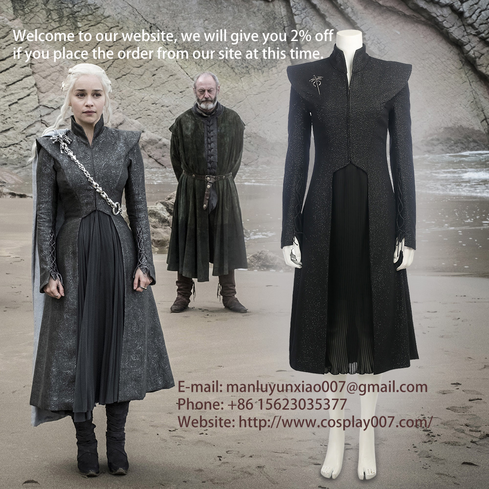 MANLUYUNXIAO 2017 New Movie Game of Thrones Season 7 Mother of Dragons Cosplay Costume