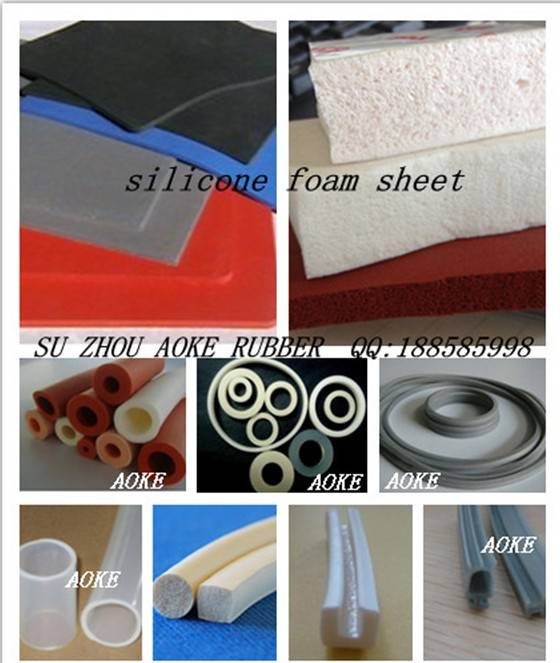White flexible silicone sponge/ solid cord
