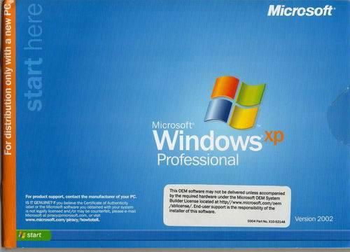 windows xp professional sp2 oem