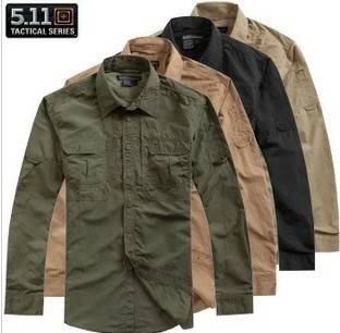 Cotton made soft 5.11 tactical shirts for autumn