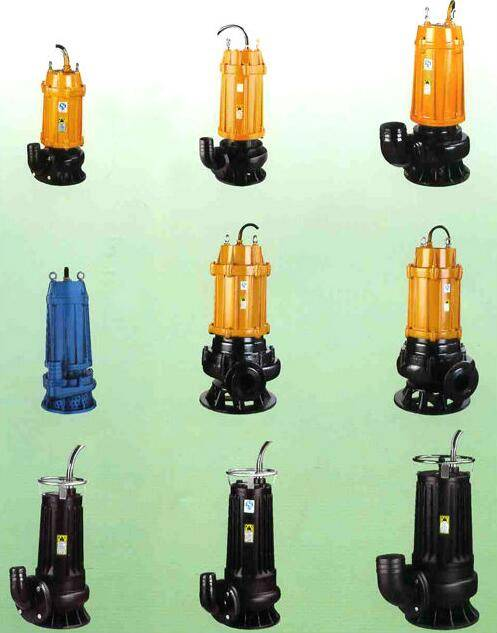 WQ industrial submersible water pump, electric submersible sewage pump