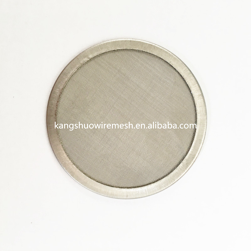 Ultra fine 304 stainless steel washable 300 micron water filters disc Coffee brewing filter Disc