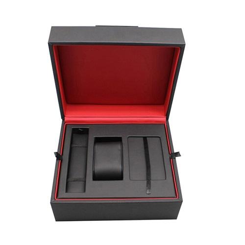 Luxury Black Leather Watch Packaging Box