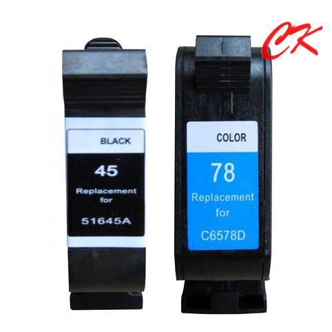 45 ink/ 78 ink cartridge for 51645A/51678A/HP Deskjet 710c/720c/815c/820cxi