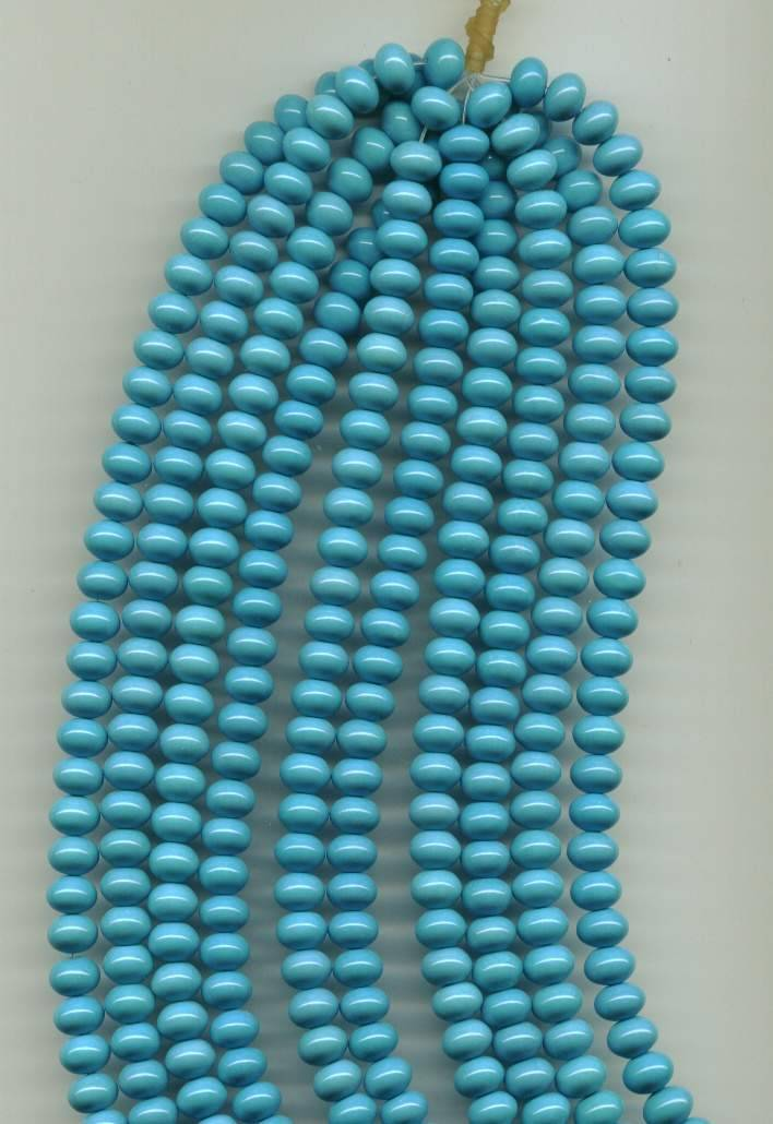 Chinese turquoise beads, rondelle 8x10mm
