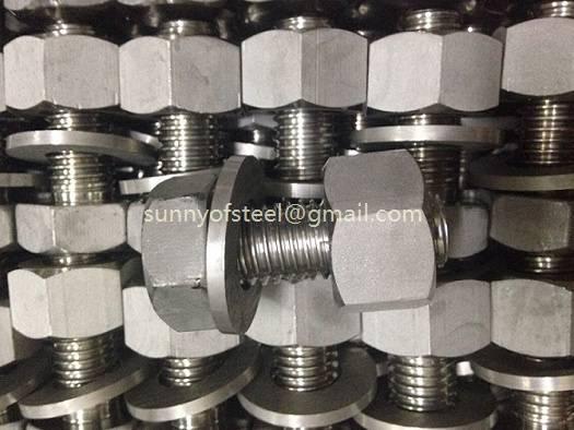 2.4633 inconel 602 UNS N06602 fasteners stud bolt nut washer gasket screw hardwares