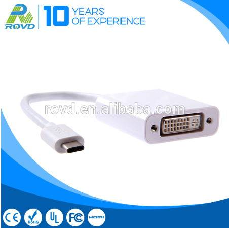 Standard USB 3.1 type c to DVI female cable