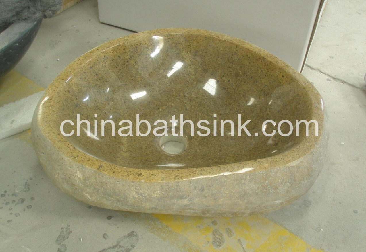 Natural Stone Basins Yellow River Stone Sink Bath Basins