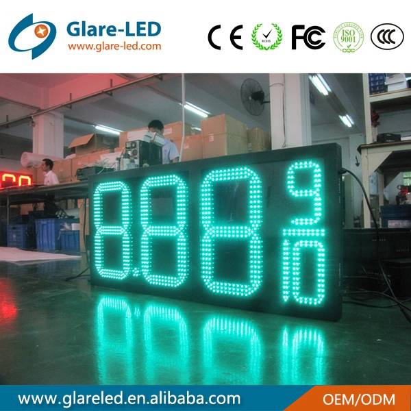 High brightness green led gas price displays
