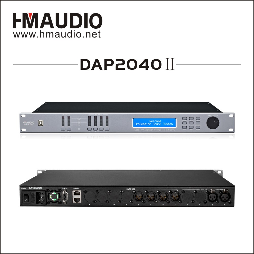 DAP2040II Gorgeous speaker managemnet with 2 inputs and 4 outputs