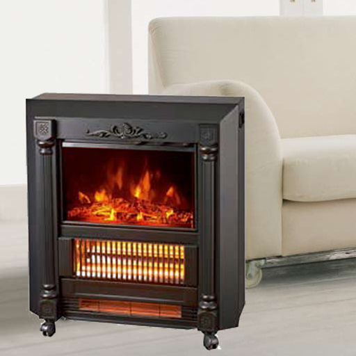 Mobile Fireplaces electric heater fire log electric stove NDY-20 flame effect room Heater Quartz tub