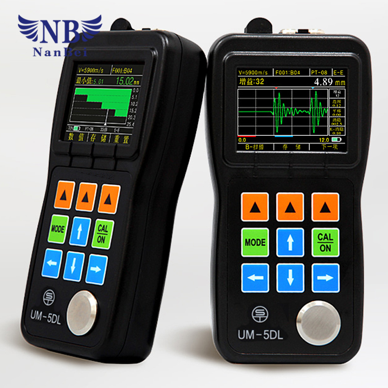 Ultrasonic thickness gauge with LCD digital diaplay