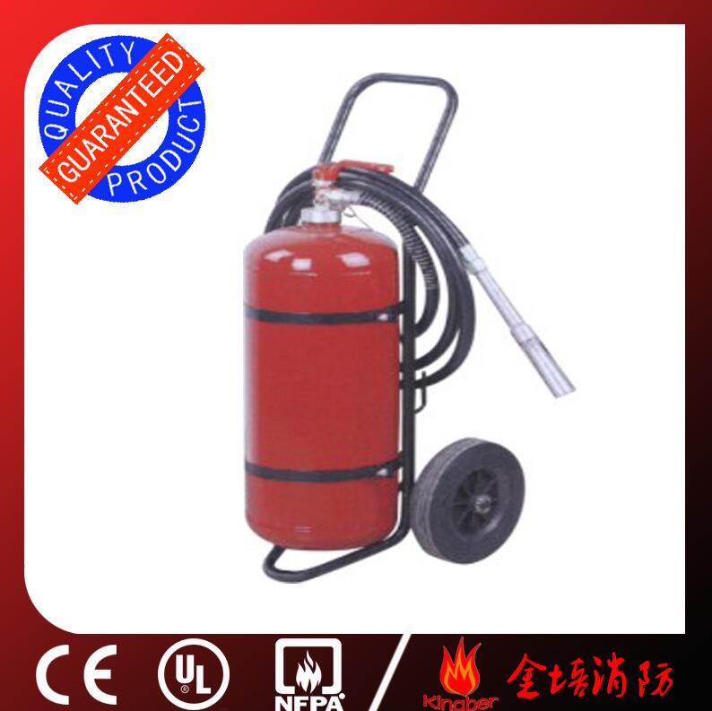 25KG Trolley Cold-Roll Steel ABC40 Dry Powder Fire Extinguisher for Warehouse Using with ISO
