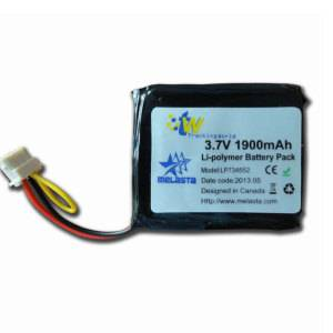3.7V Rechargeable Battery Pack Lithium Polymer Battery 1900mAh LP734552