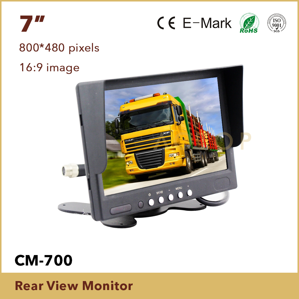 7inch Digital TFT Color Monitor With 2AV inputs