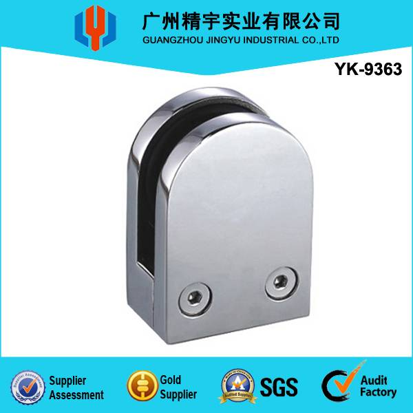 Factory direct sale stainless steel D-shape glass clamp