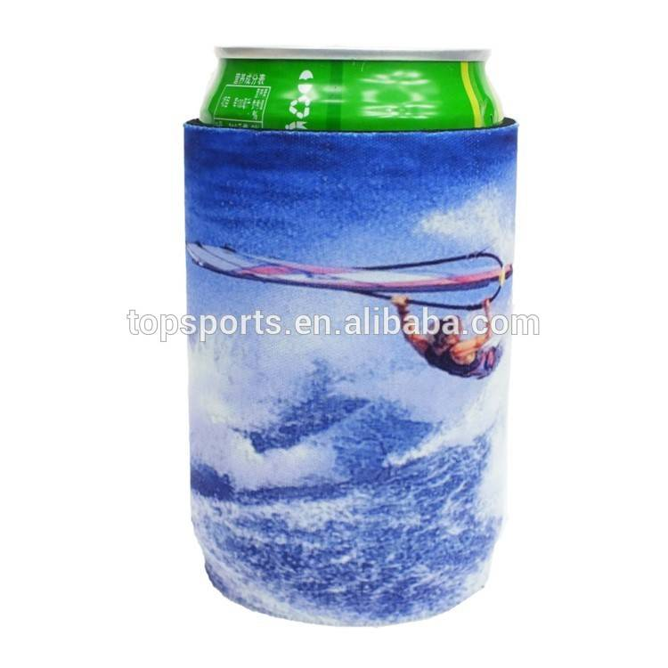 Sublimation neoprene beer can cooler, magnetic stubby coolers