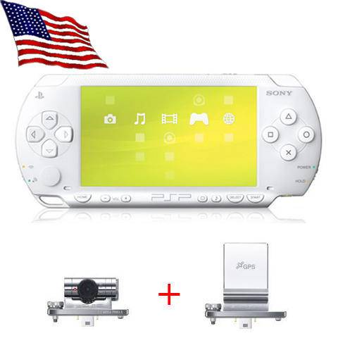 White Sony PSP + GPS + Camera +6GB Card +10 Super Games