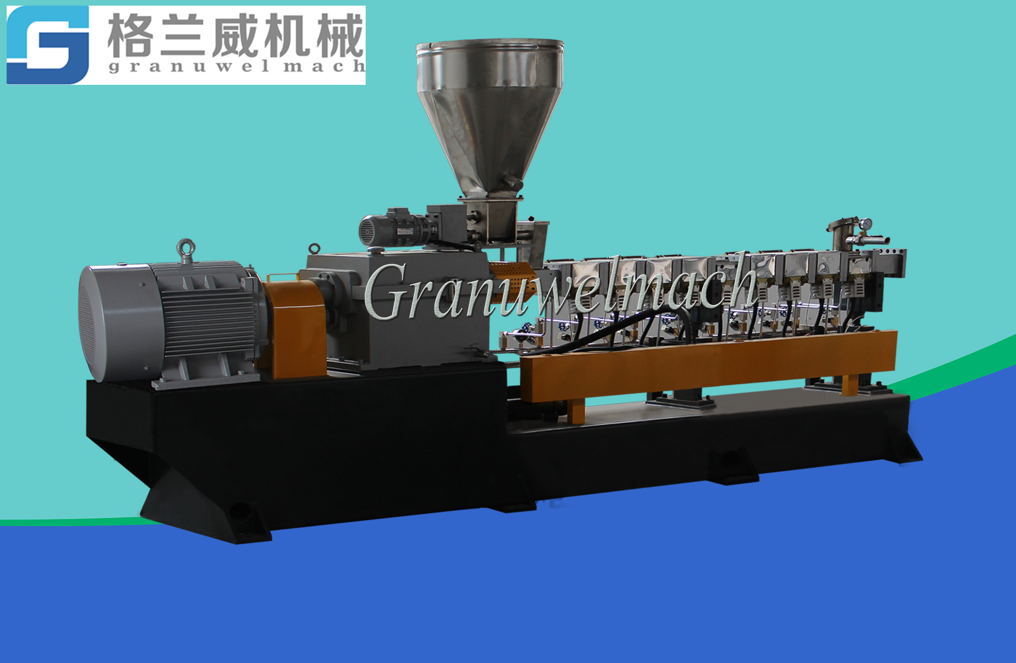 50 mm plastic twin screw extruder,granulator,pelletizer