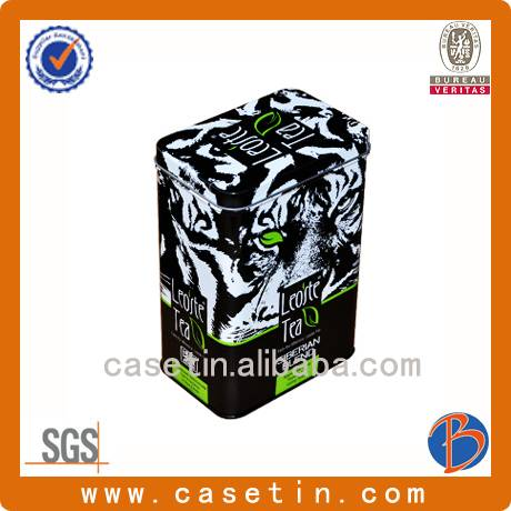 china supply good quality metal food grade CMYK printing tea packaging tin box
