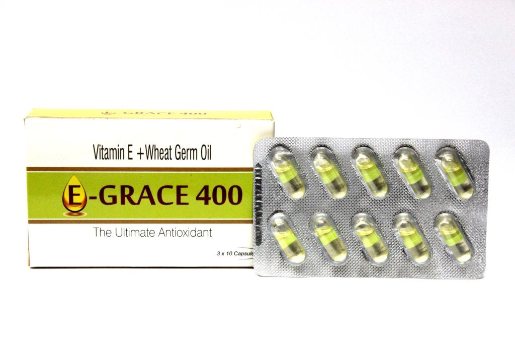 Vitamin E and Wheat Germ Oil Capsules