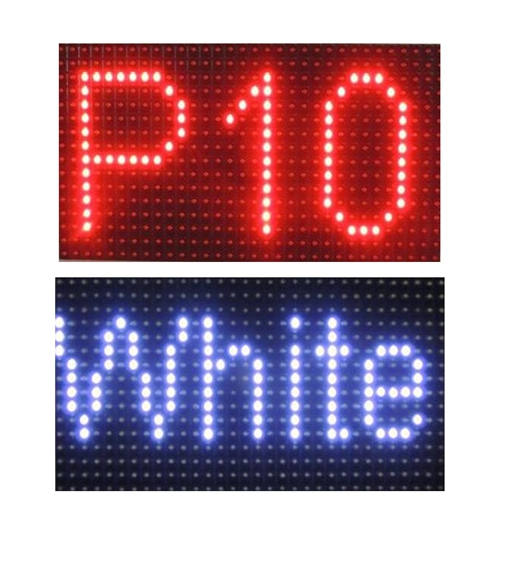 outdoor video led red p10 smd single color led module single color red dual three p10 p12 p16 p20