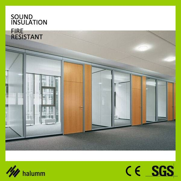 Steel modular partition double steel panel with gypsum board office partitions