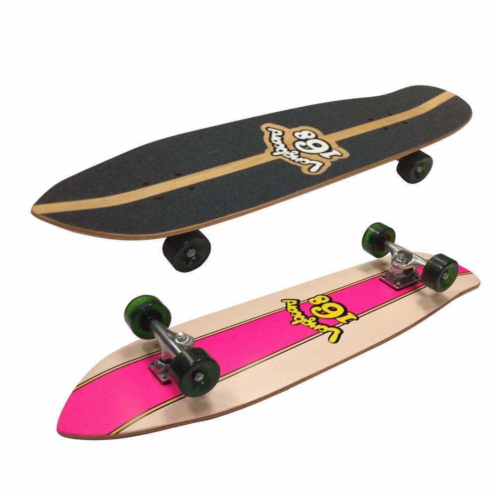"34""x9.5""double kicktail maple Longboard Complete"