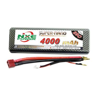 NXE4000mAh-35C-7.4V Hardcase RC Car Battery