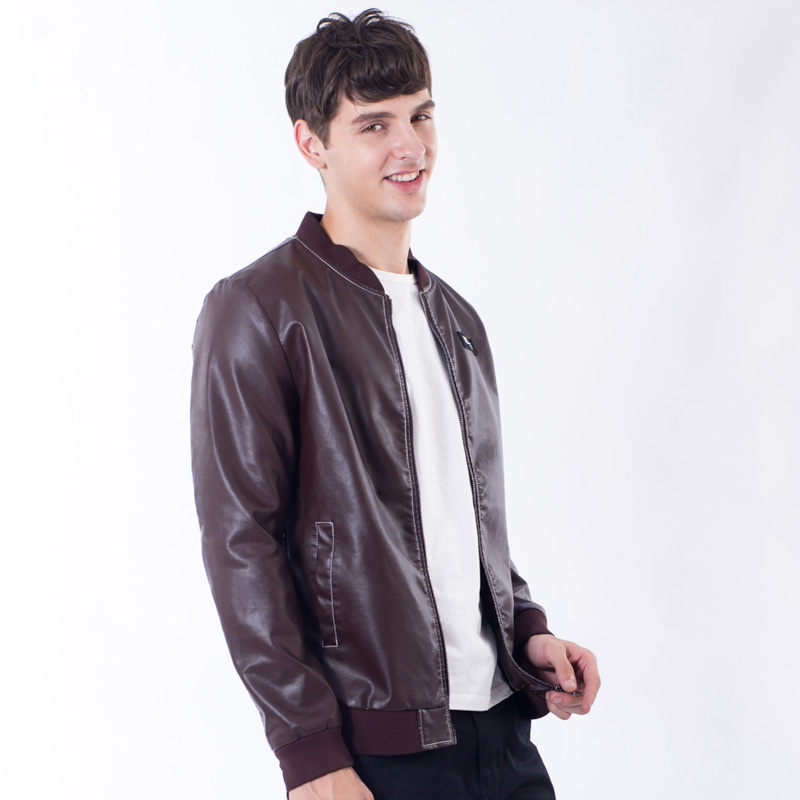 3 Colors Men Leather Jacket