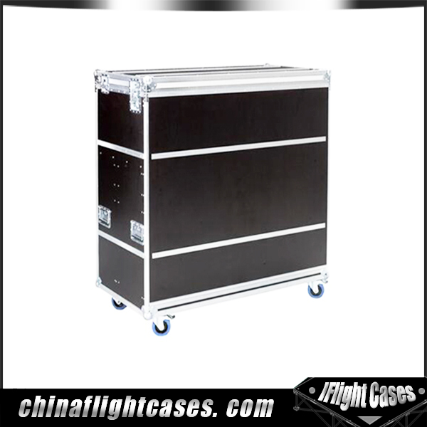 RK Luxurious DJ Cases 3 in 1 Microphone Flight Case with 2U High Drawr, holds 2 mics, 4 mic receiver