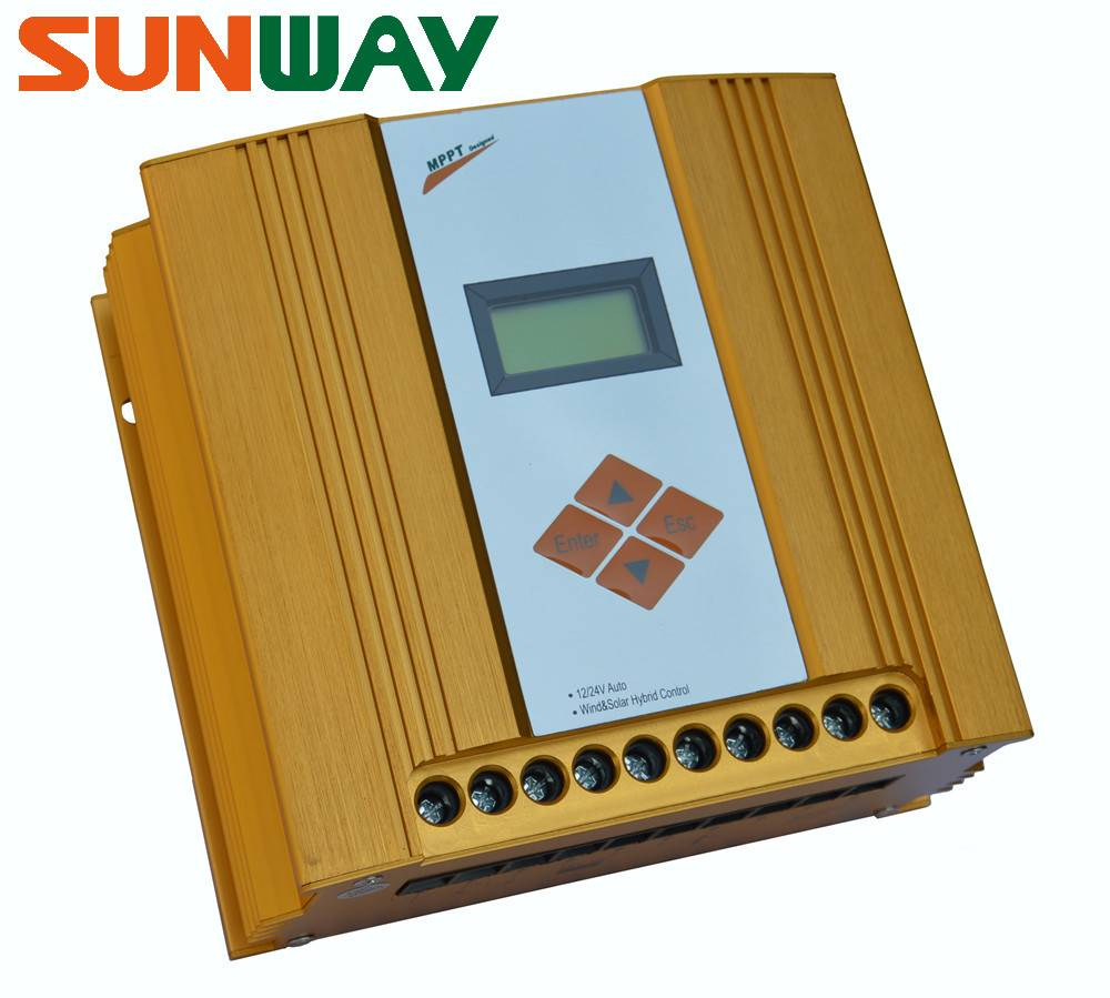 100W-600W MPPT wind solar hybrid charge controller