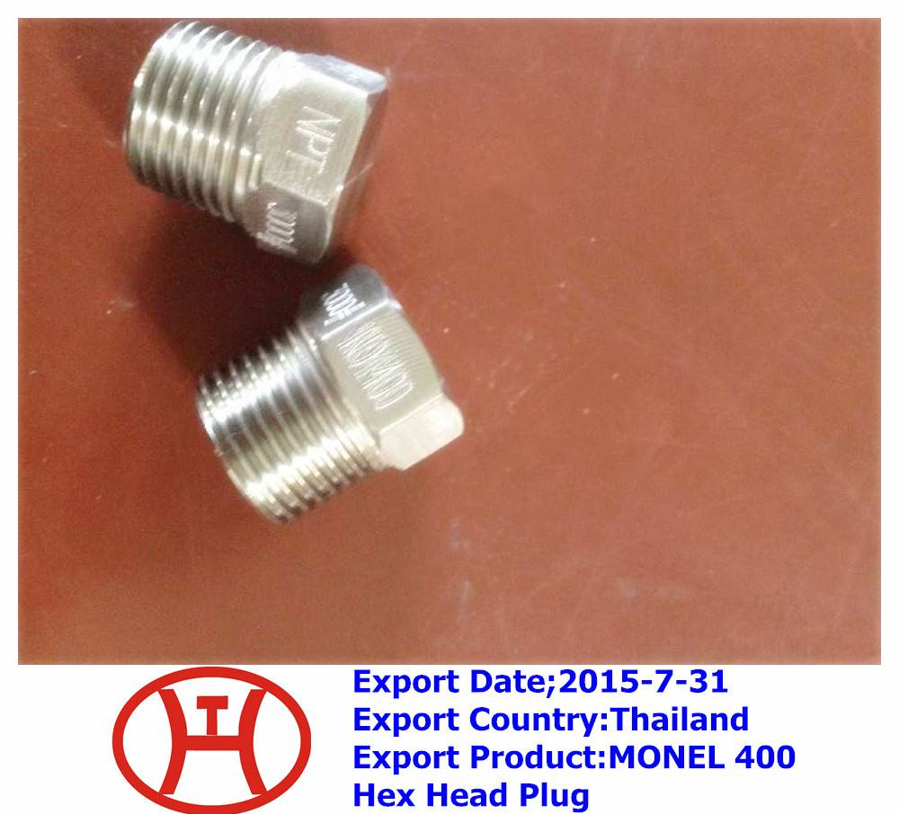 MONEL 400 Hex Head Plug