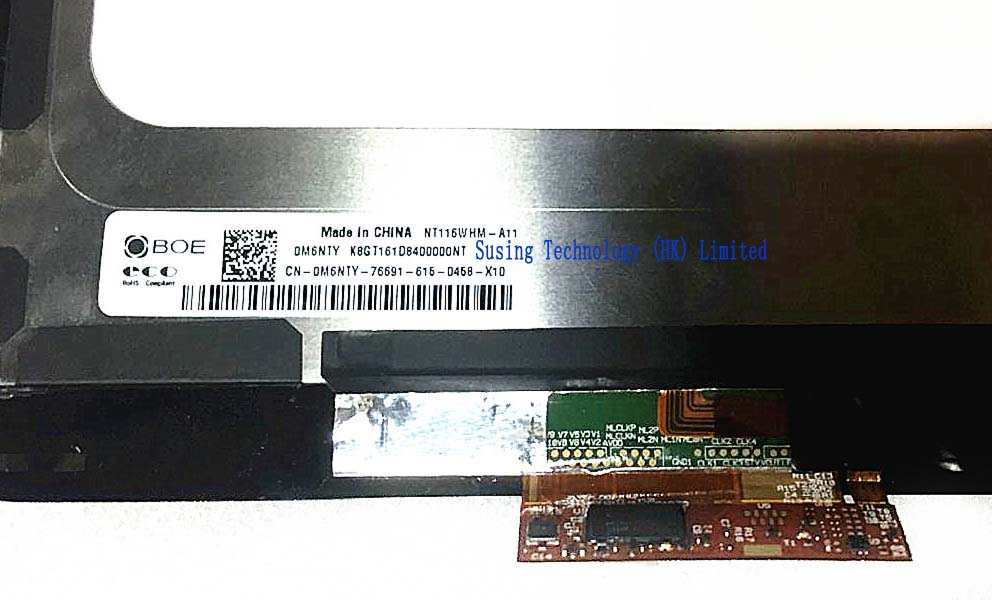 Dell 11 3168 assembly NT116WHM-A11 lcd with touch screen