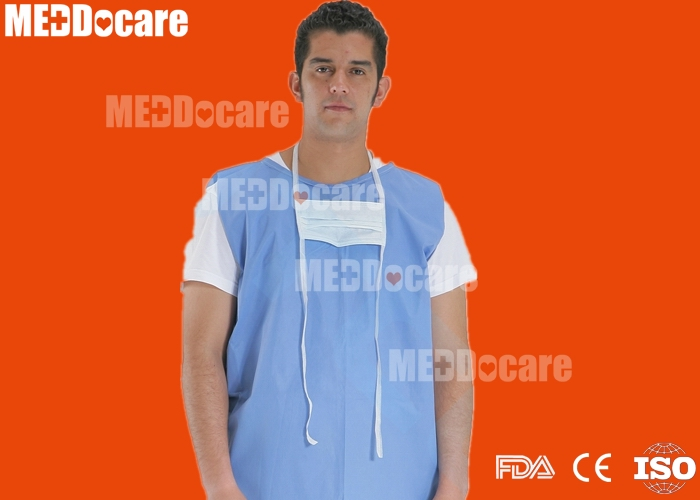 disposable soft ware non woven sms short no sleeve patient gown